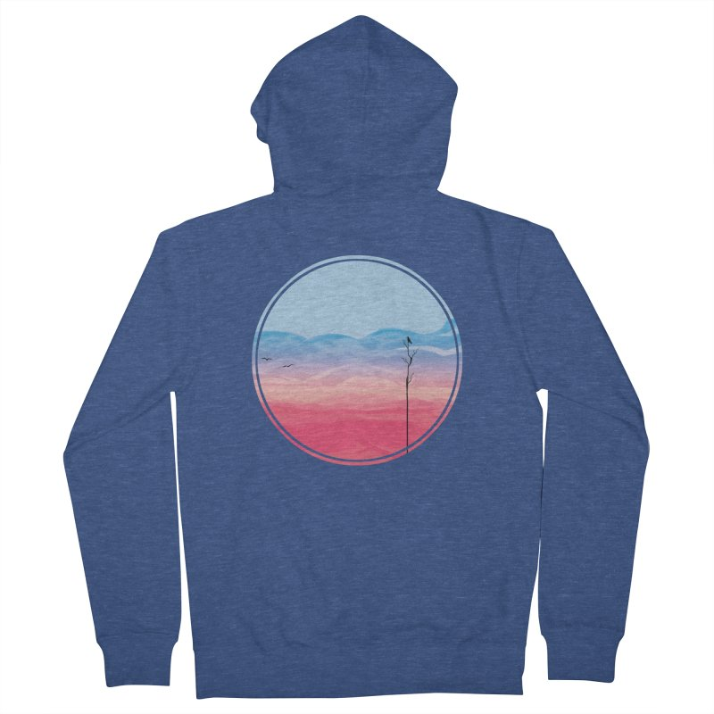 Sunrise Men's Zip-Up Hoody by alisa's Artist Shop