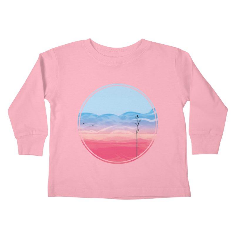 Sunrise-white tote Kids Toddler Longsleeve T-Shirt by alisa's Artist Shop