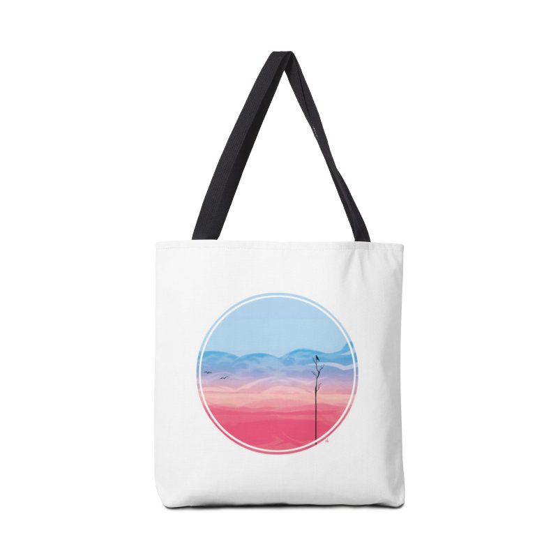 Sunrise-white tote Accessories Bag by alisa's Artist Shop
