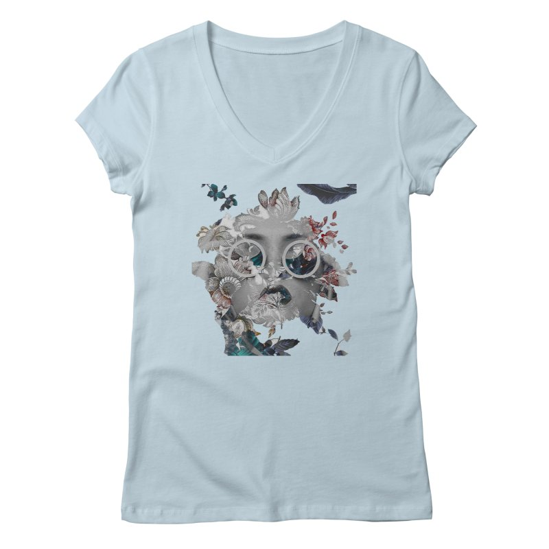 Beauty in Chaos Women's V-Neck by alisajane's Artist Shop