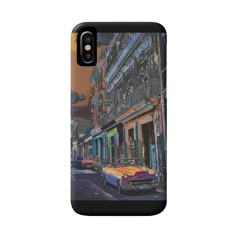 Streets of Havana -in orange Accessories Phone Case by alisajane's Artist Shop