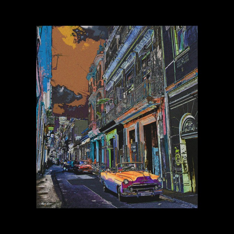 Streets of Havana -in orange by alisajane's Artist Shop
