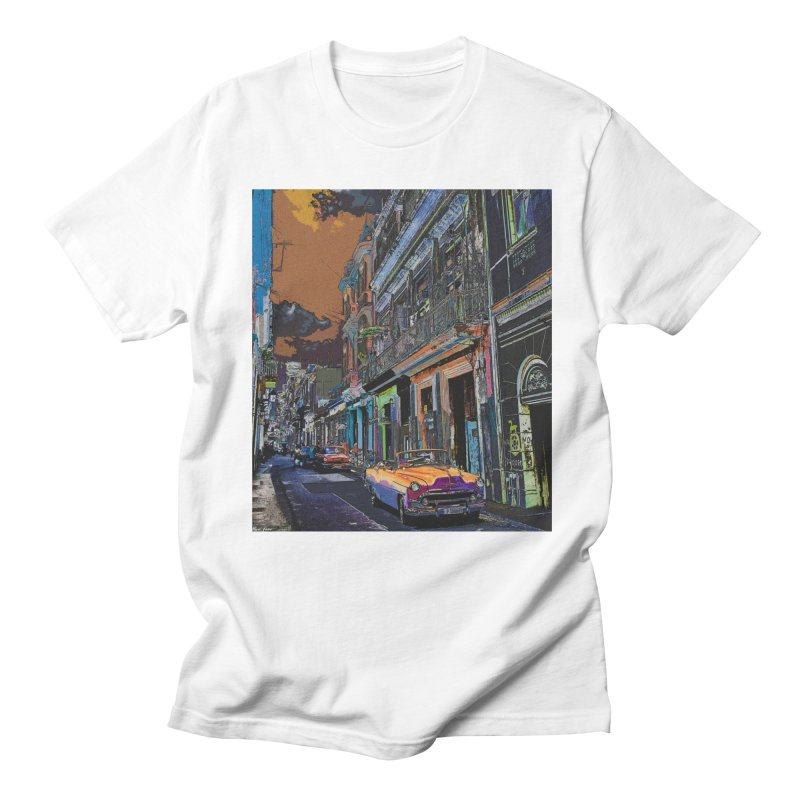 Streets of Havana -in orange Women's Regular Unisex T-Shirt by alisajane's Artist Shop