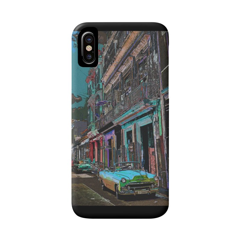 Streets of Havana -in blue Accessories Phone Case by alisajane's Artist Shop