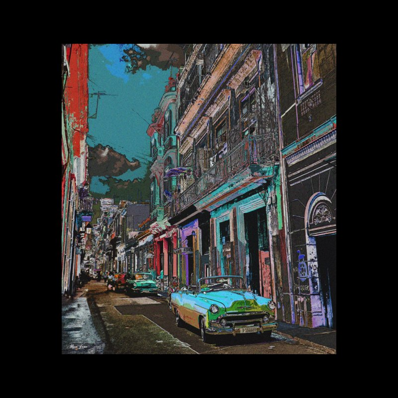 Streets of Havana -in blue   by alisajane's Artist Shop