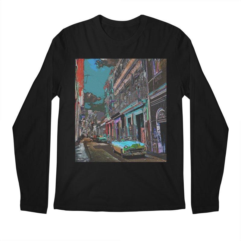 Streets of Havana -in blue Men's Regular Longsleeve T-Shirt by alisajane's Artist Shop