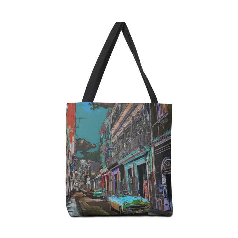 Streets of Havana -in blue Accessories Bag by alisajane's Artist Shop