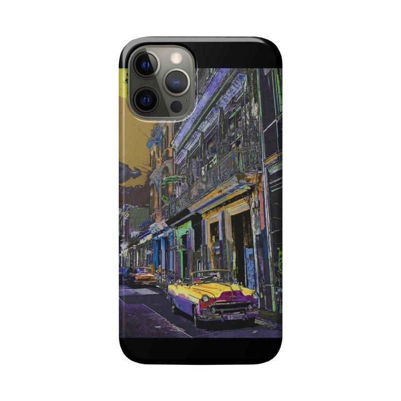 Streets of Havana -in yellow Accessories Phone Case by alisajane's Artist Shop