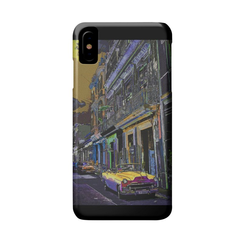 Streets of Havana -in yellow Accessories Phone Case by alisajane's Artist Shop