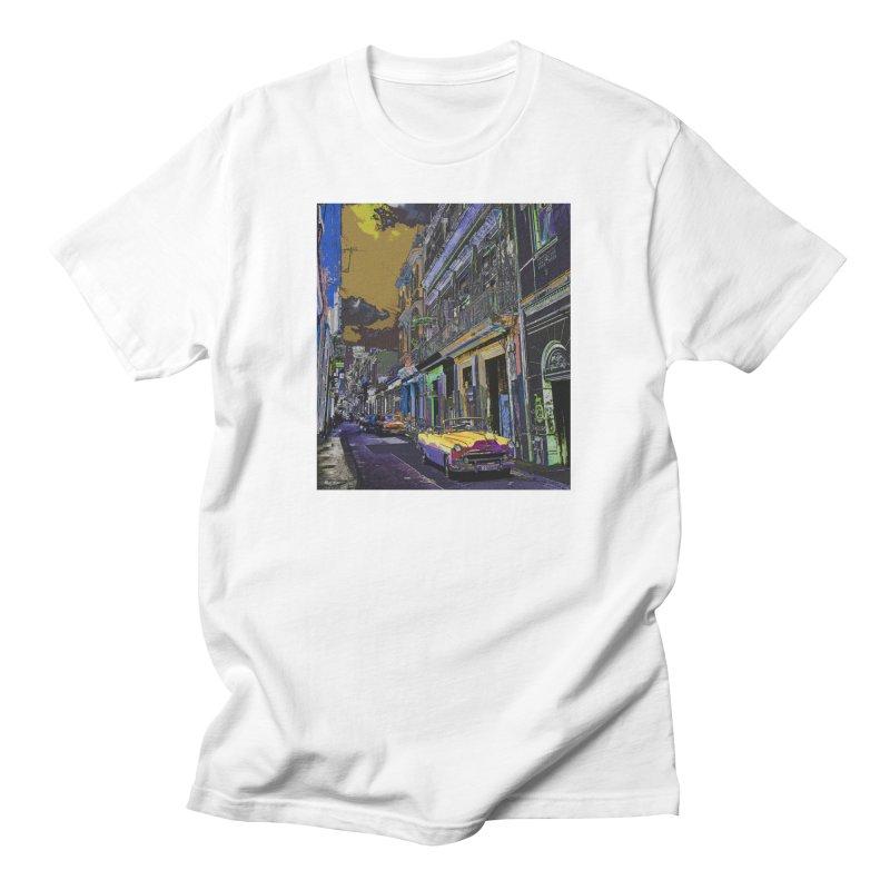 Streets of Havana -in yellow Men's T-Shirt by alisajane's Artist Shop