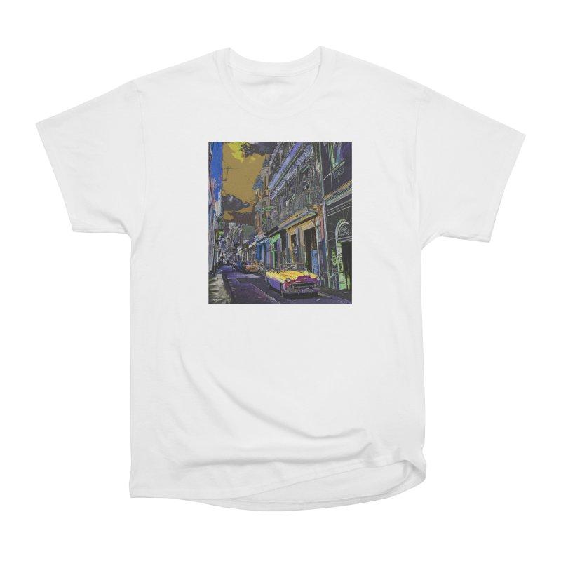 Streets of Havana -in yellow Women's Heavyweight Unisex T-Shirt by alisajane's Artist Shop