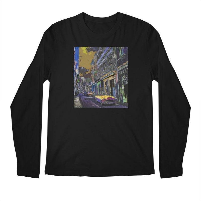Streets of Havana -in yellow Men's Regular Longsleeve T-Shirt by alisajane's Artist Shop