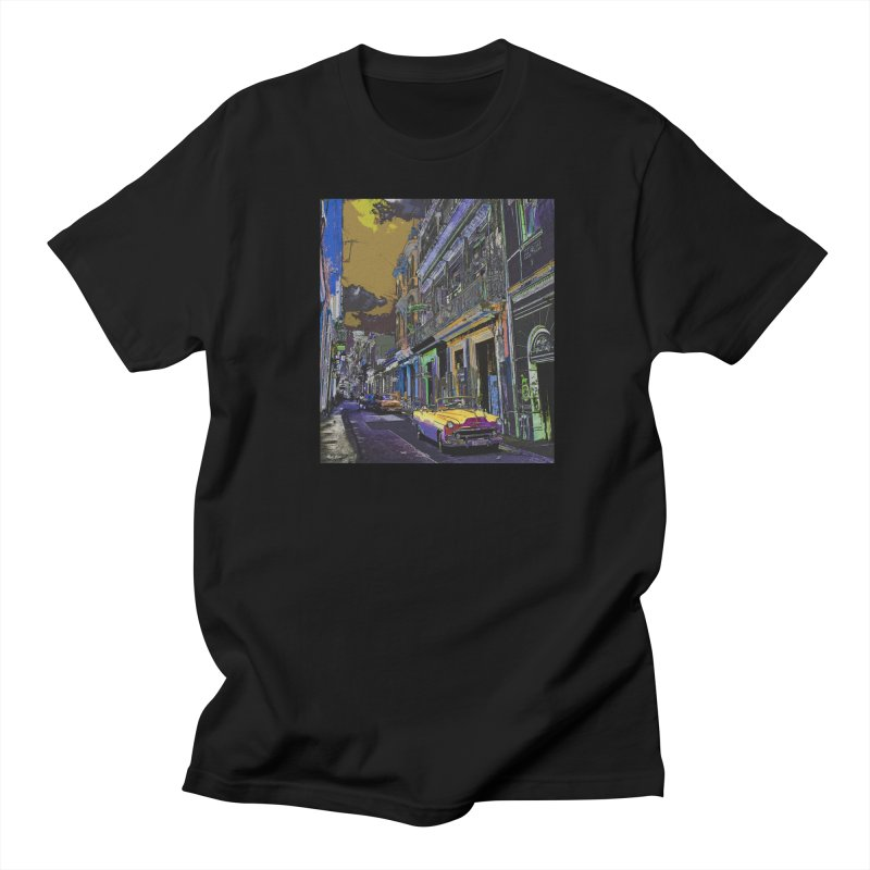 Streets of Havana -in yellow Women's Regular Unisex T-Shirt by alisajane's Artist Shop