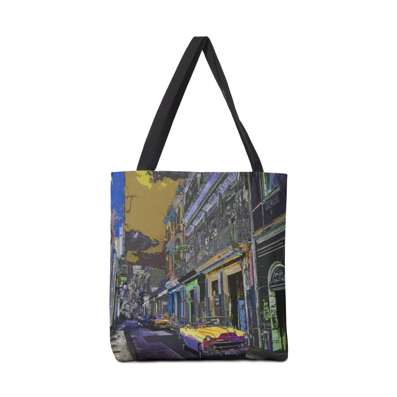 Streets of Havana -in yellow Accessories Bag by alisajane's Artist Shop
