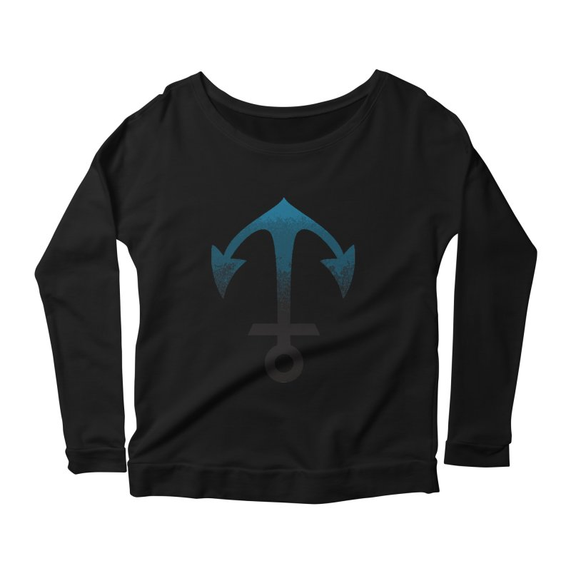 Anchor Women's Scoop Neck Longsleeve T-Shirt by alisajane's Artist Shop