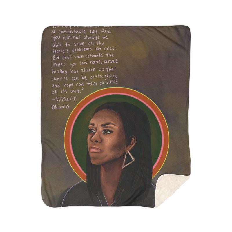 Michelle Obama Home Sherpa Blanket Blanket by Alison Sommer's Artist Shop