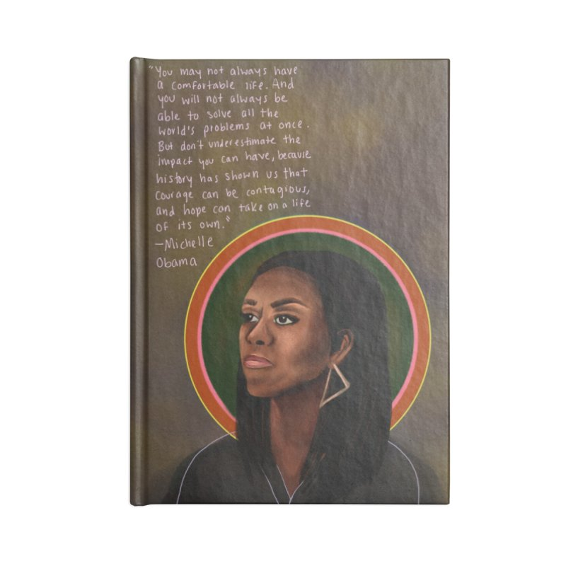 Michelle Obama Accessories Lined Journal Notebook by Alison Sommer's Artist Shop