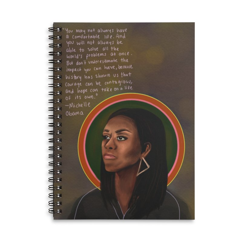 Michelle Obama Accessories Notebook by Alison Sommer's Artist Shop