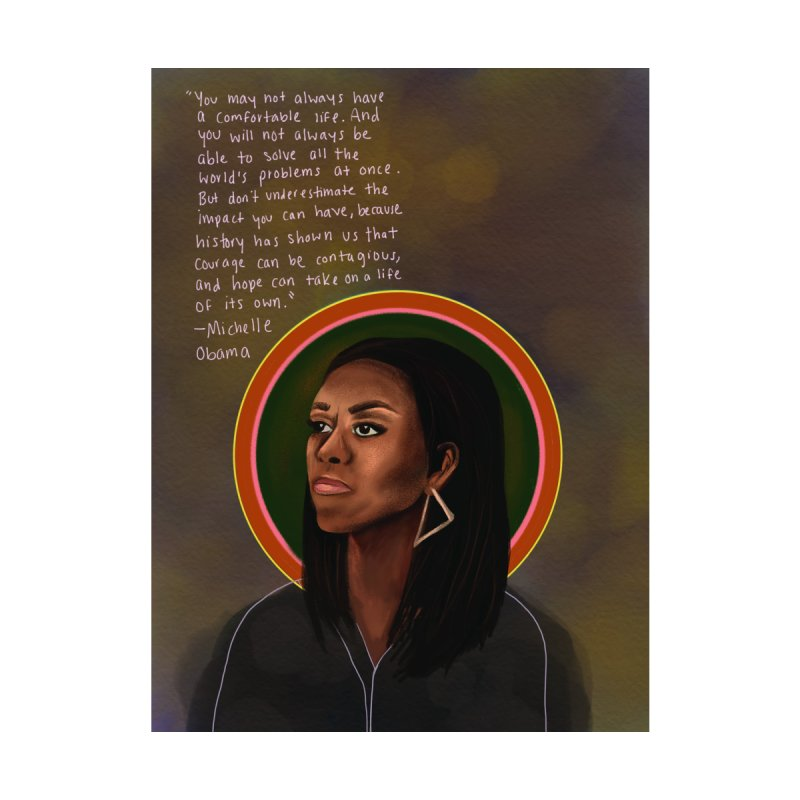 Michelle Obama Home Stretched Canvas by Alison Sommer's Artist Shop