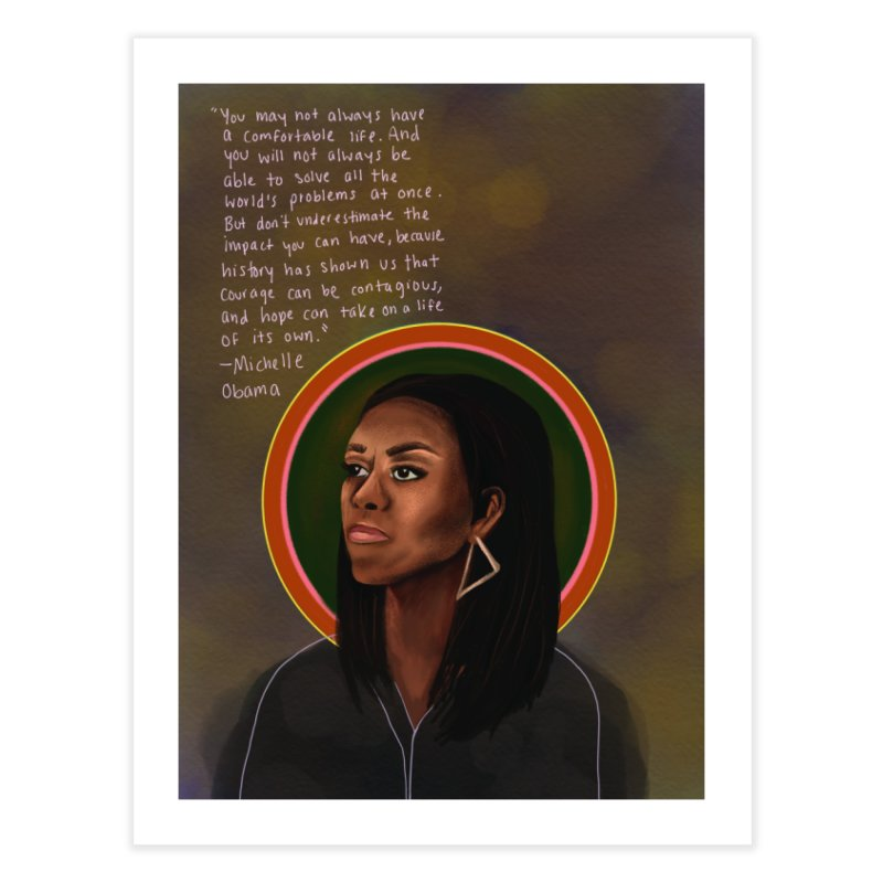Michelle Obama Home Fine Art Print by Alison Sommer's Artist Shop