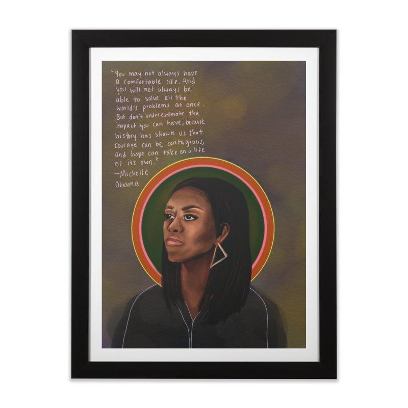 Michelle Obama Home Framed Fine Art Print by Alison Sommer's Artist Shop