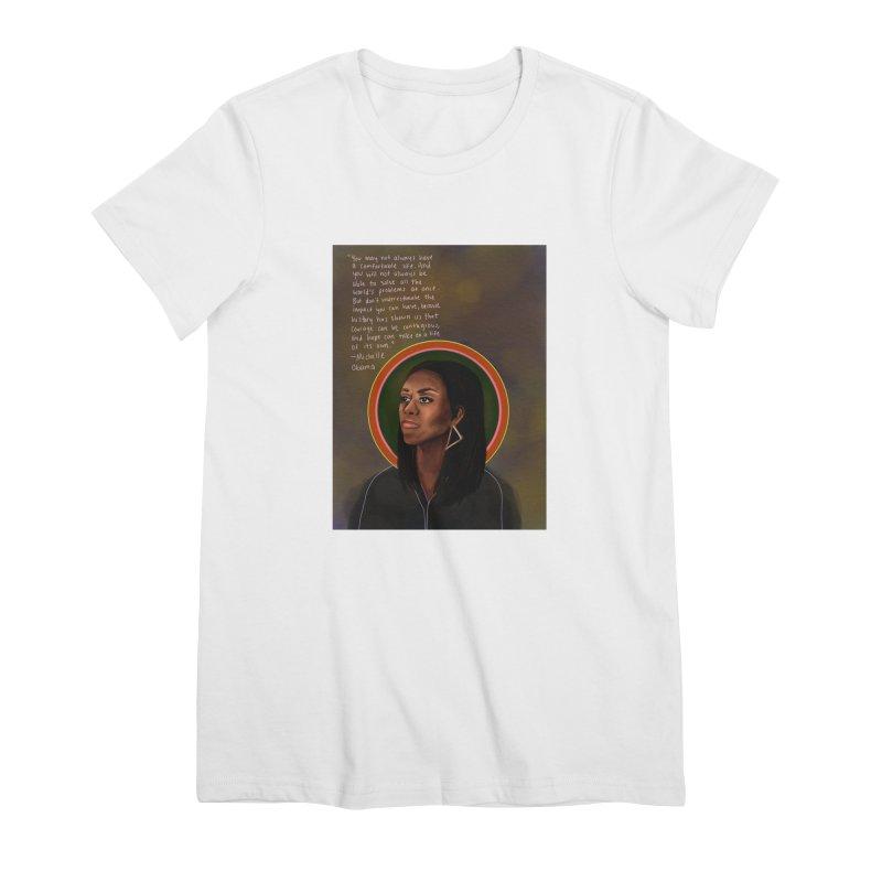 Michelle Obama Women's Premium T-Shirt by Alison Sommer's Artist Shop
