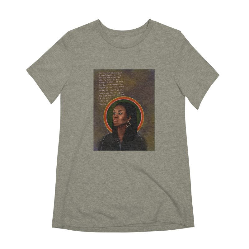 Michelle Obama Women's Extra Soft T-Shirt by Alison Sommer's Artist Shop