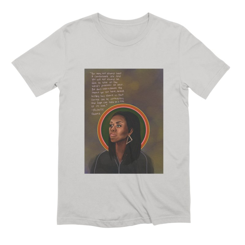 Michelle Obama Men's Extra Soft T-Shirt by Alison Sommer's Artist Shop