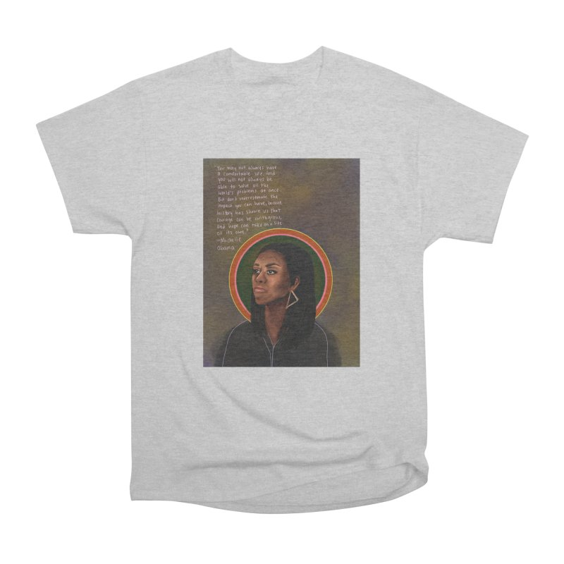 Michelle Obama Men's Heavyweight T-Shirt by Alison Sommer's Artist Shop