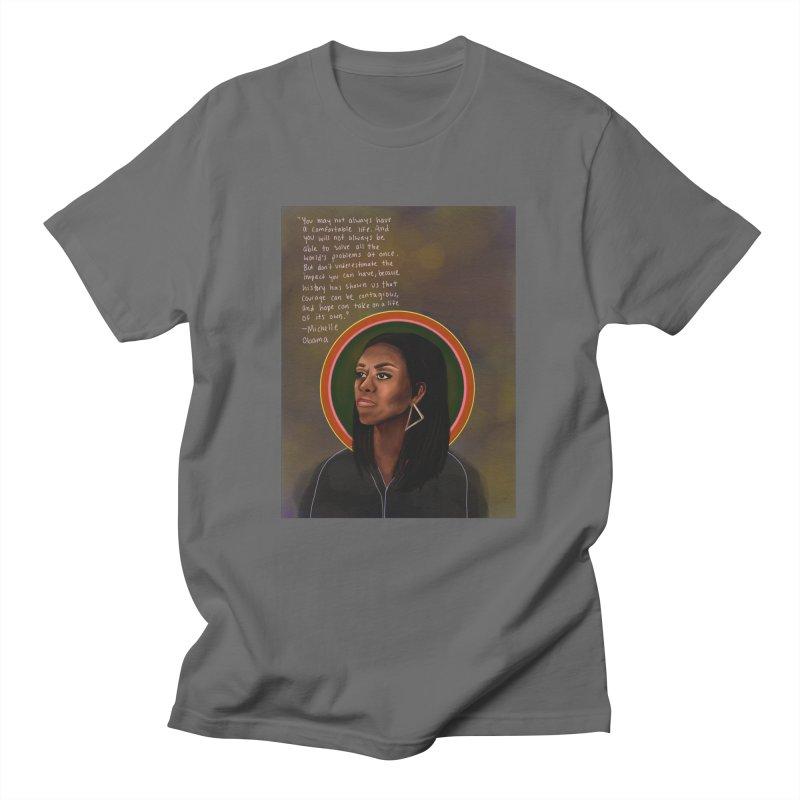 Michelle Obama Men's T-Shirt by Alison Sommer's Artist Shop