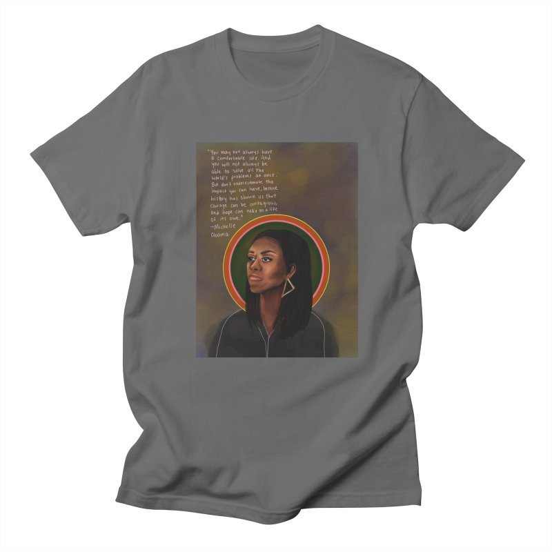 Michelle Obama Men's T-Shirt by Alison Sommer's Artist Shop