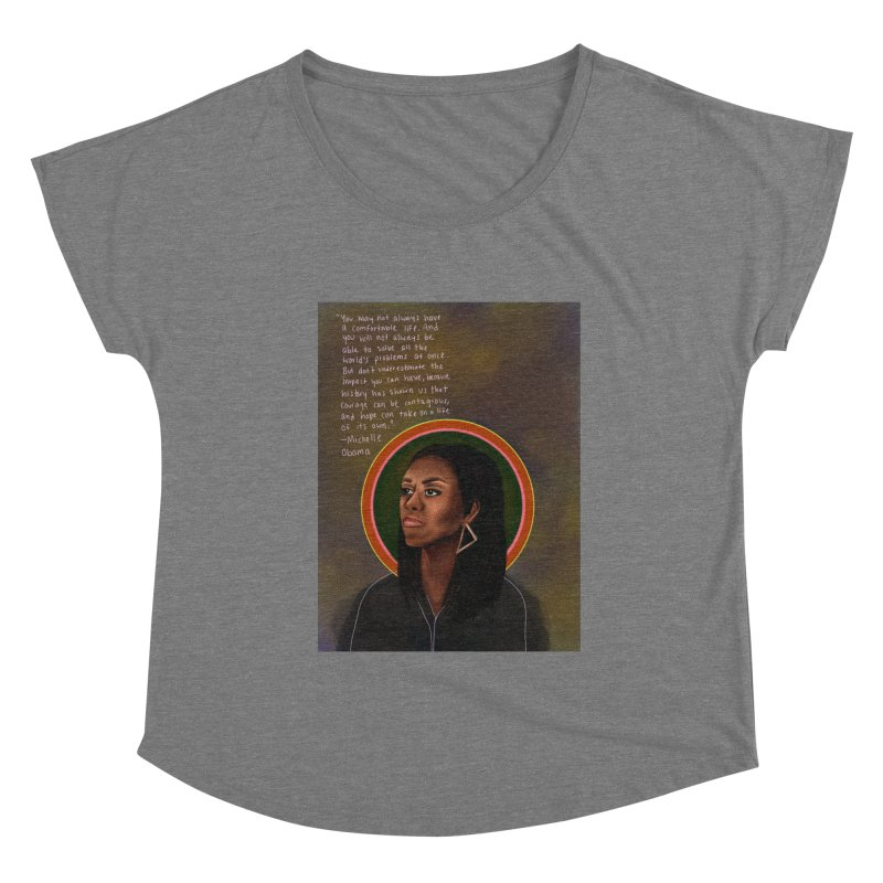 Michelle Obama Women's Scoop Neck by Alison Sommer's Artist Shop