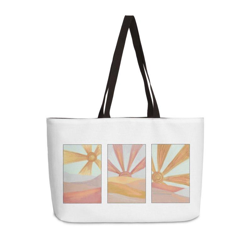 Sunshine Accessories Weekender Bag Bag by Alison Sommer's Artist Shop