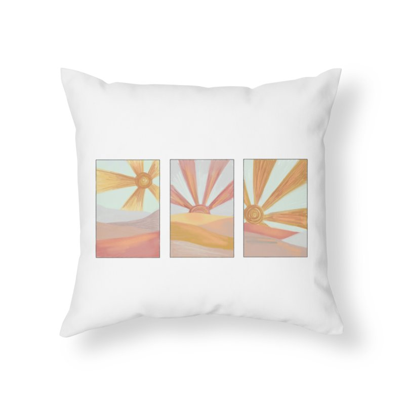 Sunshine Home Throw Pillow by Alison Sommer's Artist Shop