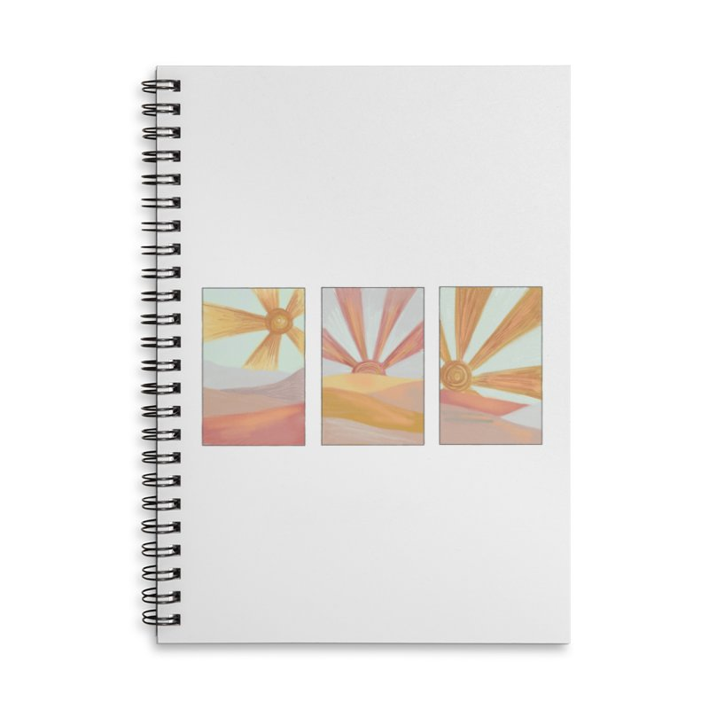 Sunshine Accessories Lined Spiral Notebook by Alison Sommer's Artist Shop