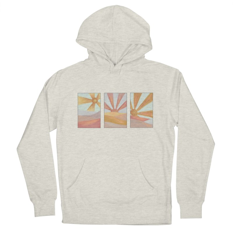 Sunshine Men's French Terry Pullover Hoody by Alison Sommer's Artist Shop