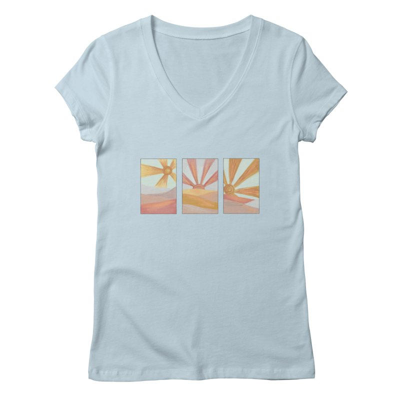 Sunshine Women's V-Neck by Alison Sommer's Artist Shop