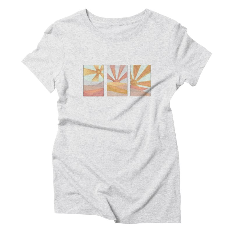 Sunshine Women's Triblend T-Shirt by Alison Sommer's Artist Shop