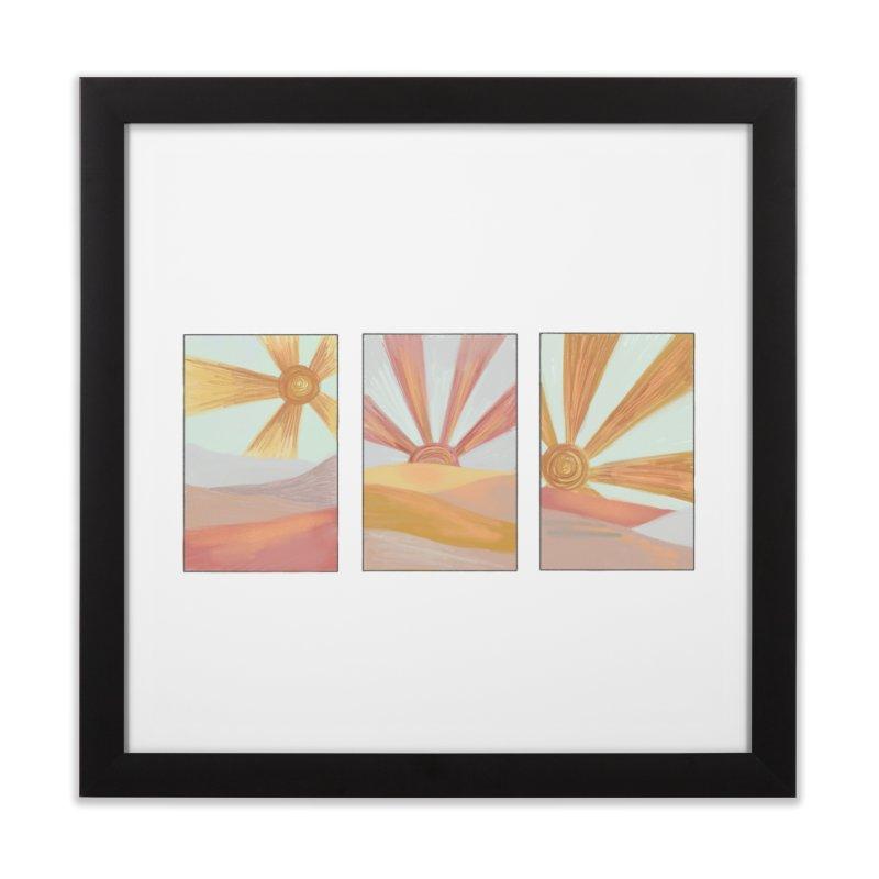 Sunshine Home Framed Fine Art Print by Alison Sommer's Artist Shop