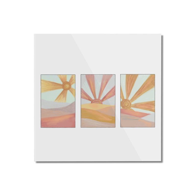 Sunshine Home Mounted Acrylic Print by Alison Sommer's Artist Shop