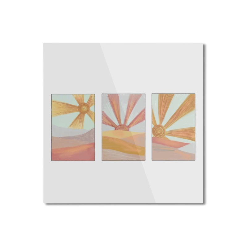 Sunshine Home Mounted Aluminum Print by Alison Sommer's Artist Shop