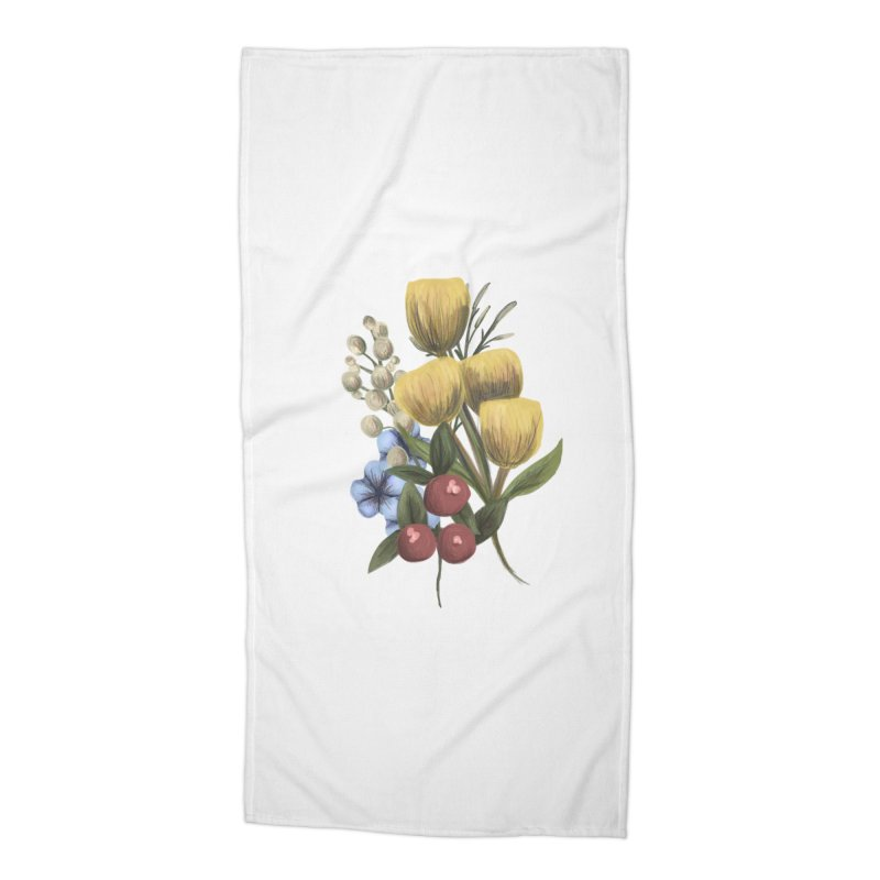 Flowers Accessories Beach Towel by Alison Sommer's Artist Shop