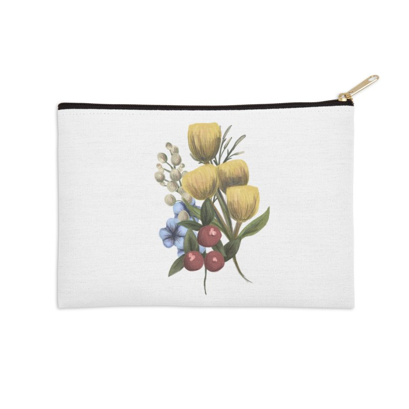 Flowers Accessories Zip Pouch by Alison Sommer's Artist Shop
