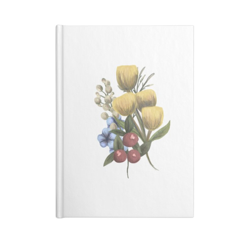 Flowers Accessories Lined Journal Notebook by Alison Sommer's Artist Shop