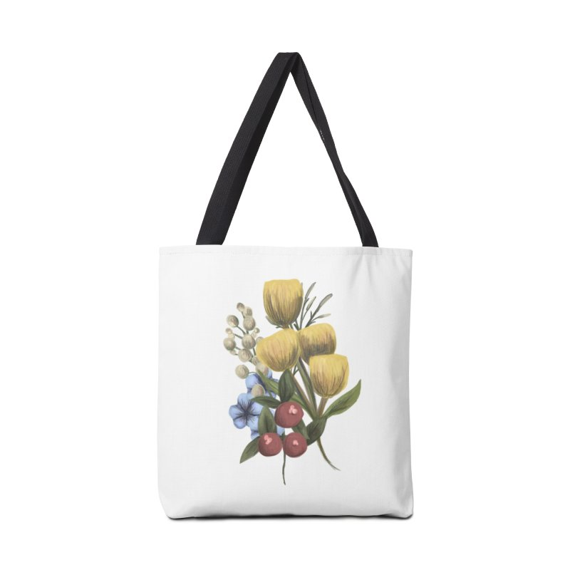 Flowers Accessories Bag by Alison Sommer's Artist Shop