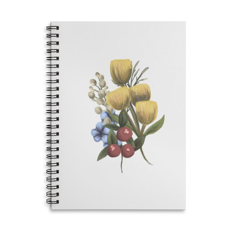 Flowers Accessories Lined Spiral Notebook by Alison Sommer's Artist Shop