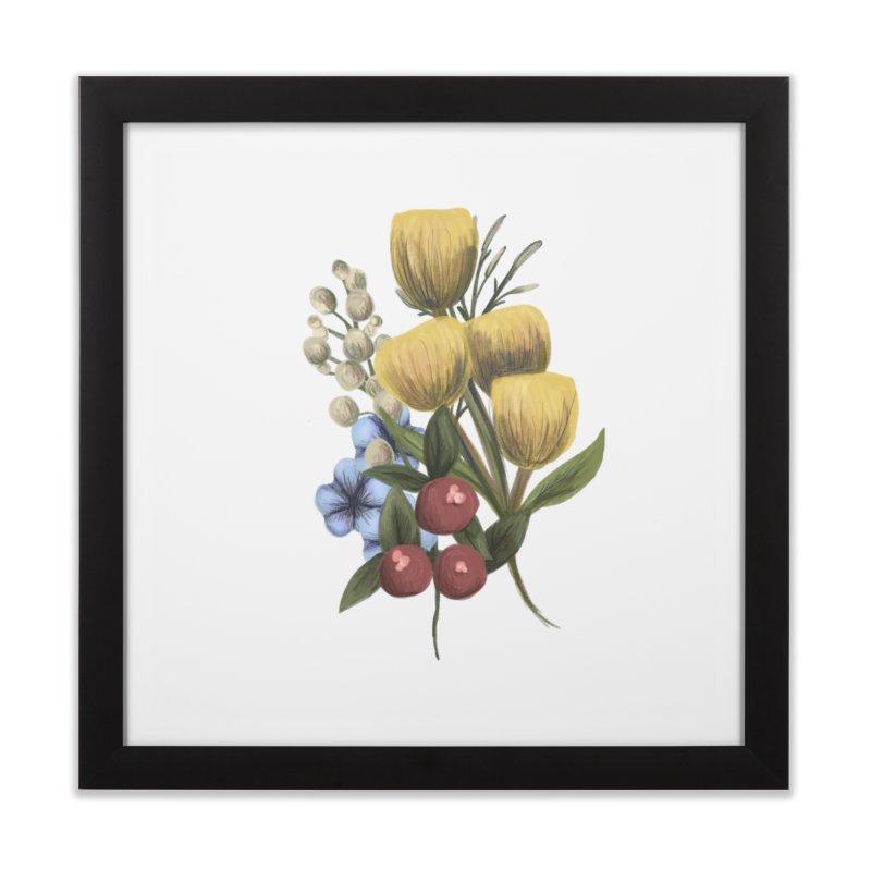 Flowers Home Framed Fine Art Print by Alison Sommer's Artist Shop