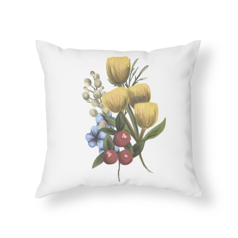 Flowers Home Throw Pillow by Alison Sommer's Artist Shop