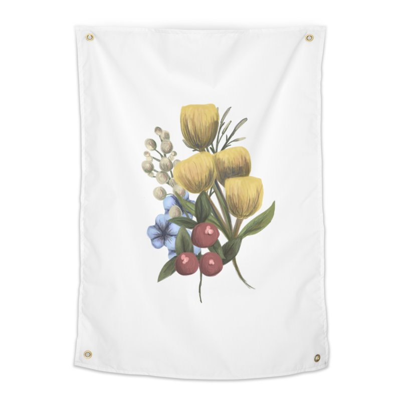 Flowers Home Tapestry by Alison Sommer's Artist Shop