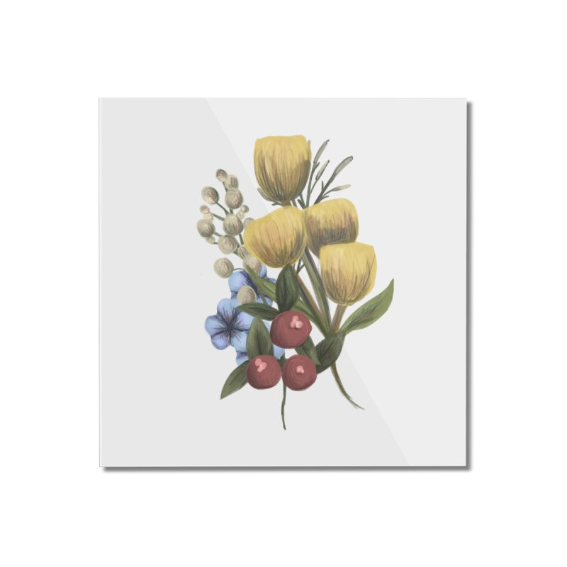 Flowers Home Mounted Acrylic Print by Alison Sommer's Artist Shop